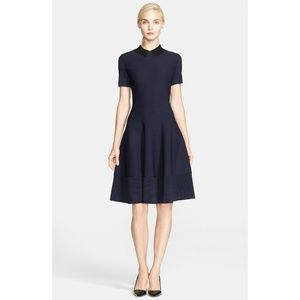 Kate Spade Trompe L'Oeil Fit & Flare Sweater Dress